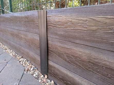 Concrete Sleepers Wood Look Steel Retaining Wall Concrete Sleeper Retaining Walls Retaining Wall Design