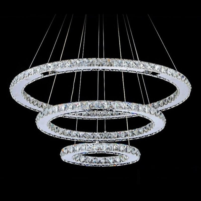 Modern Led Crystal Chandeliers Light Fixture for