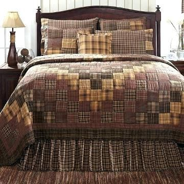 French Country Patchwork Quilted Bedspread Set Oversize King ... : country style quilt patterns - Adamdwight.com