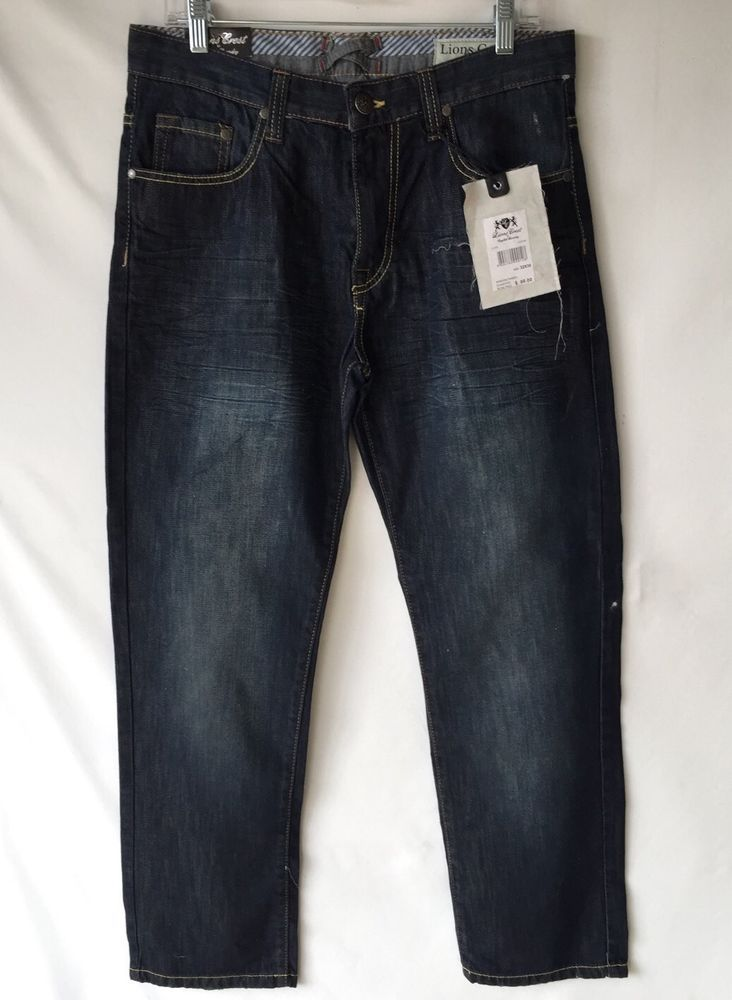 Lions Crest By English Laundry Straight Fit Men S Jeans 32 X 30