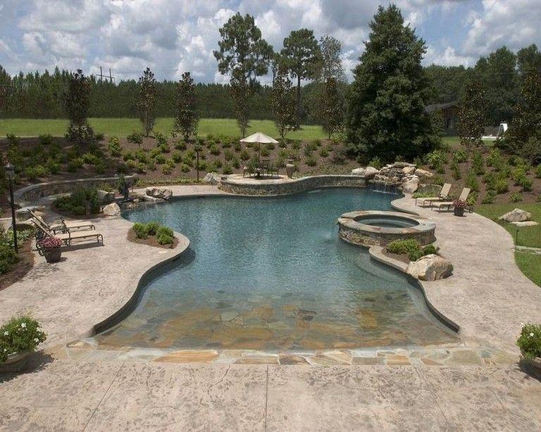 26 Awesome Natural Beach Pool Design Ideas Backyard Poolideas Poollandscaping Swimmingpooldesign Residential Pool Beach Entry Pool Swimming Pool Designs