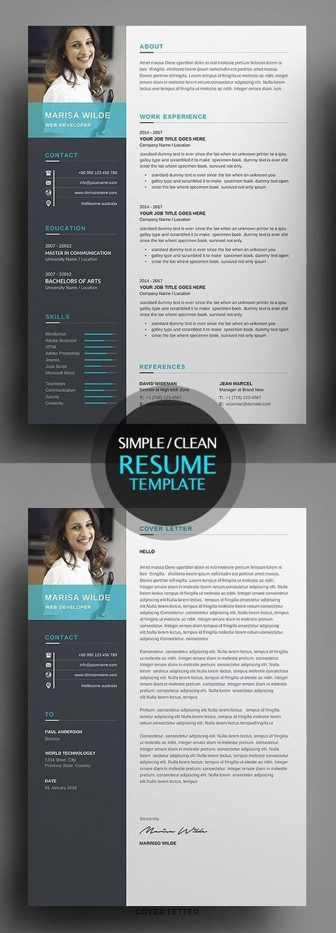 Resume Templates That Are Easy To Convert Into An Eye Catching Resume Use Our Microsoft Word Res Resume Design Free Clean Resume Template Resume Template Word