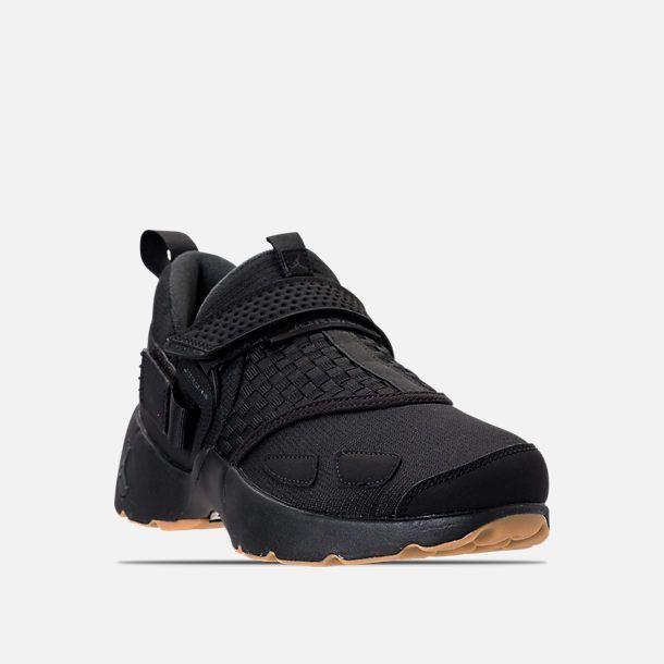 Three Quarter view of Men's Air Jordan Trunner LX Training Shoes in  Black/Anthracite/Gum Yellow | Boots, Shoes & Shoe Accessories | Pinterest | Air  jordan, ...