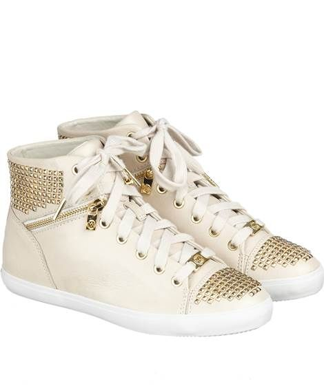 Michael Kors: Damen Sneakers 'Boerum Studded', offwhite von Michael Kors
