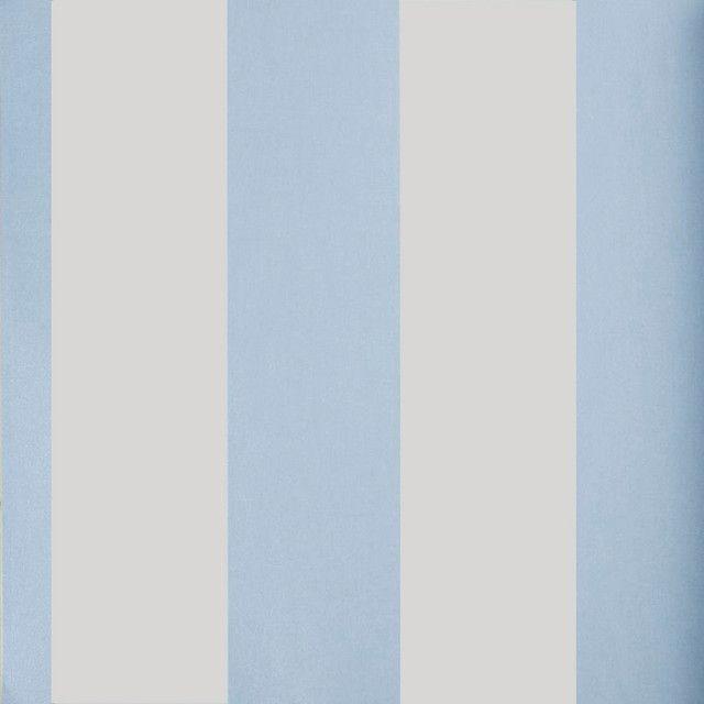 Papel pintado infantil coordonn rayas 8 5cm azul y blanco - Habitacion bebe papel pintado ...