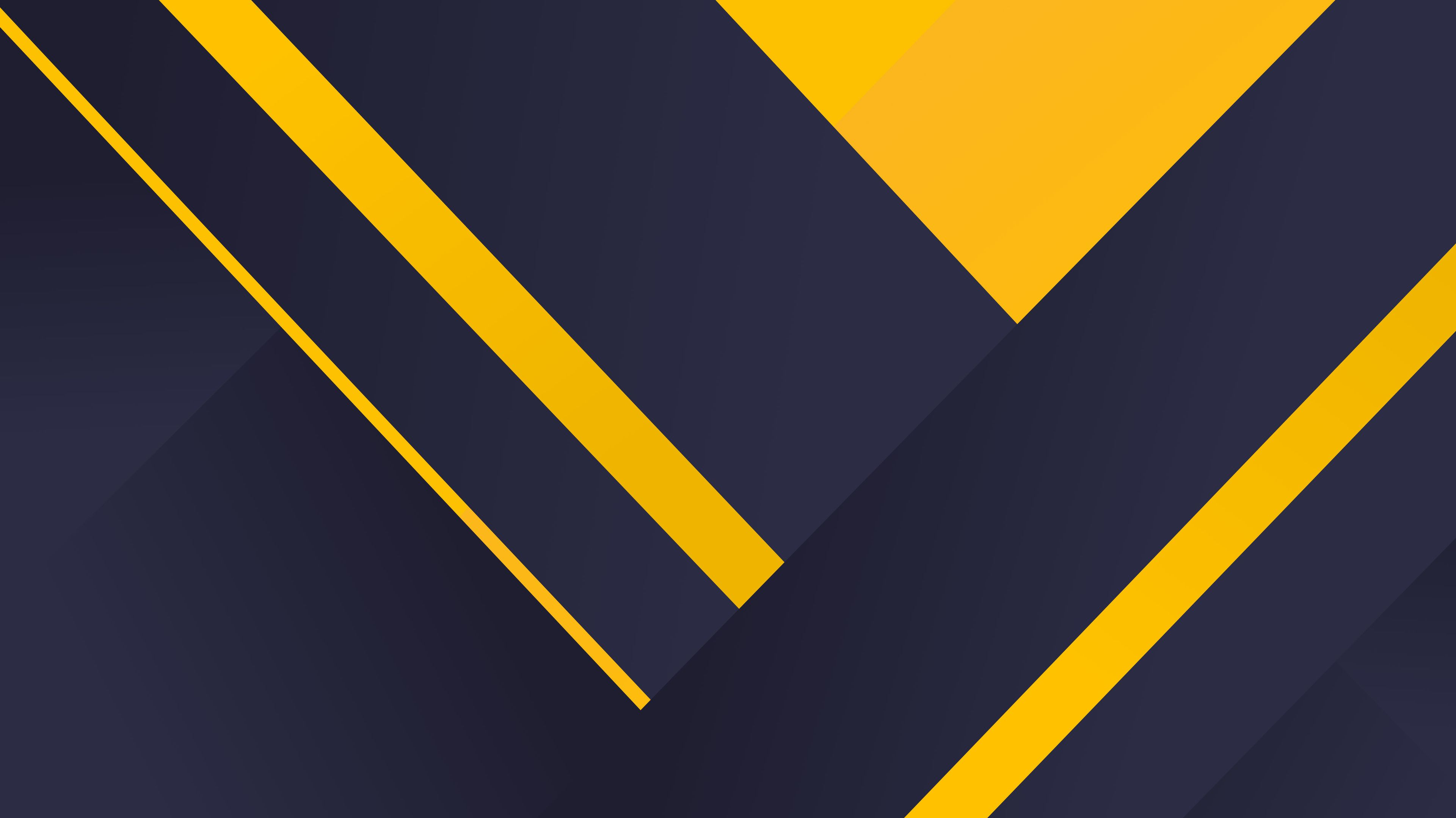 Geometric Material Yellow Blue 4k Yellow Wallpapers Material Wallpapers Hd Wallpapers Geometry Wall Geometric Background Dark Backgrounds Abstract Wallpaper