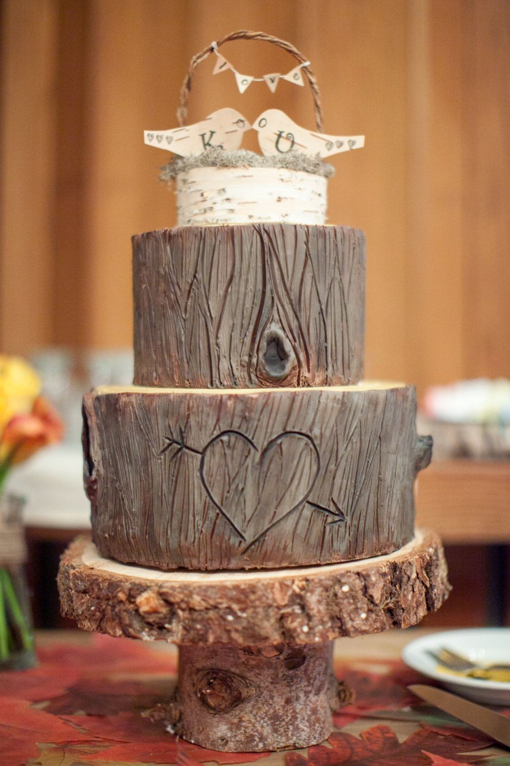 Rustic Cake Stand Made From Cedar By Therusticstick On Etsy I Even Love The Birch Wood Style
