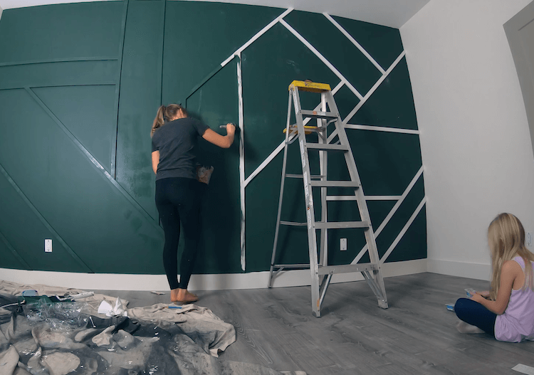 How to Make a Geometric Accent Wall