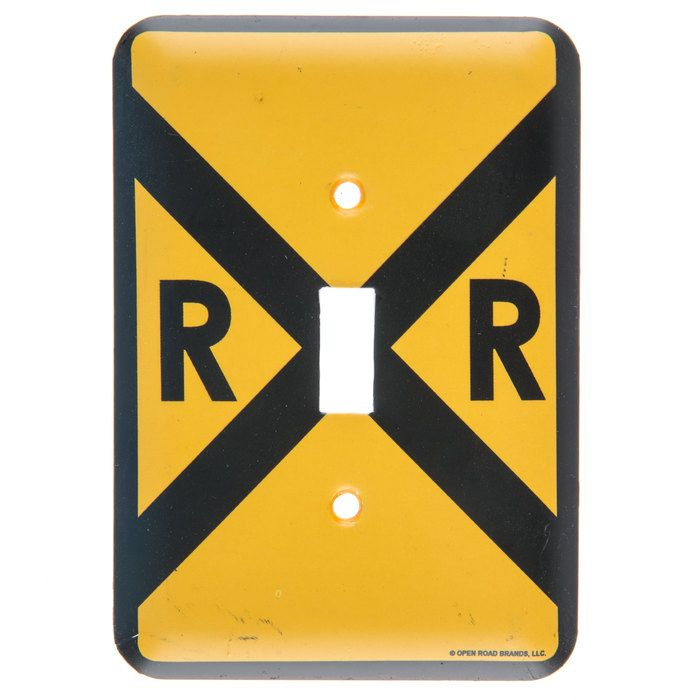 Train Railroad Crossing Single Light Switch Plate⎜Open Road Brands ...
