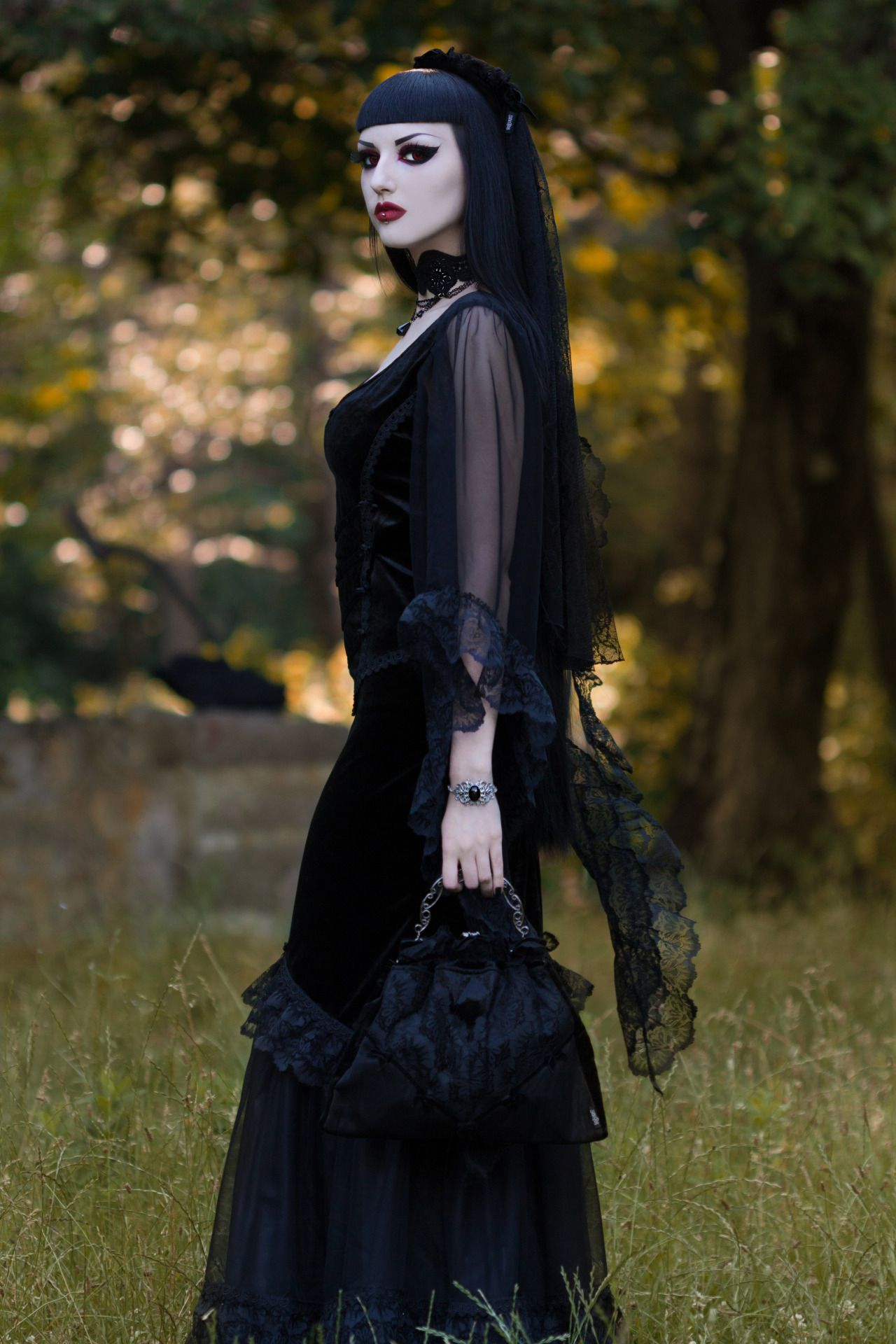 Model obsidian kerttu photo john wolfrik dress gothic and