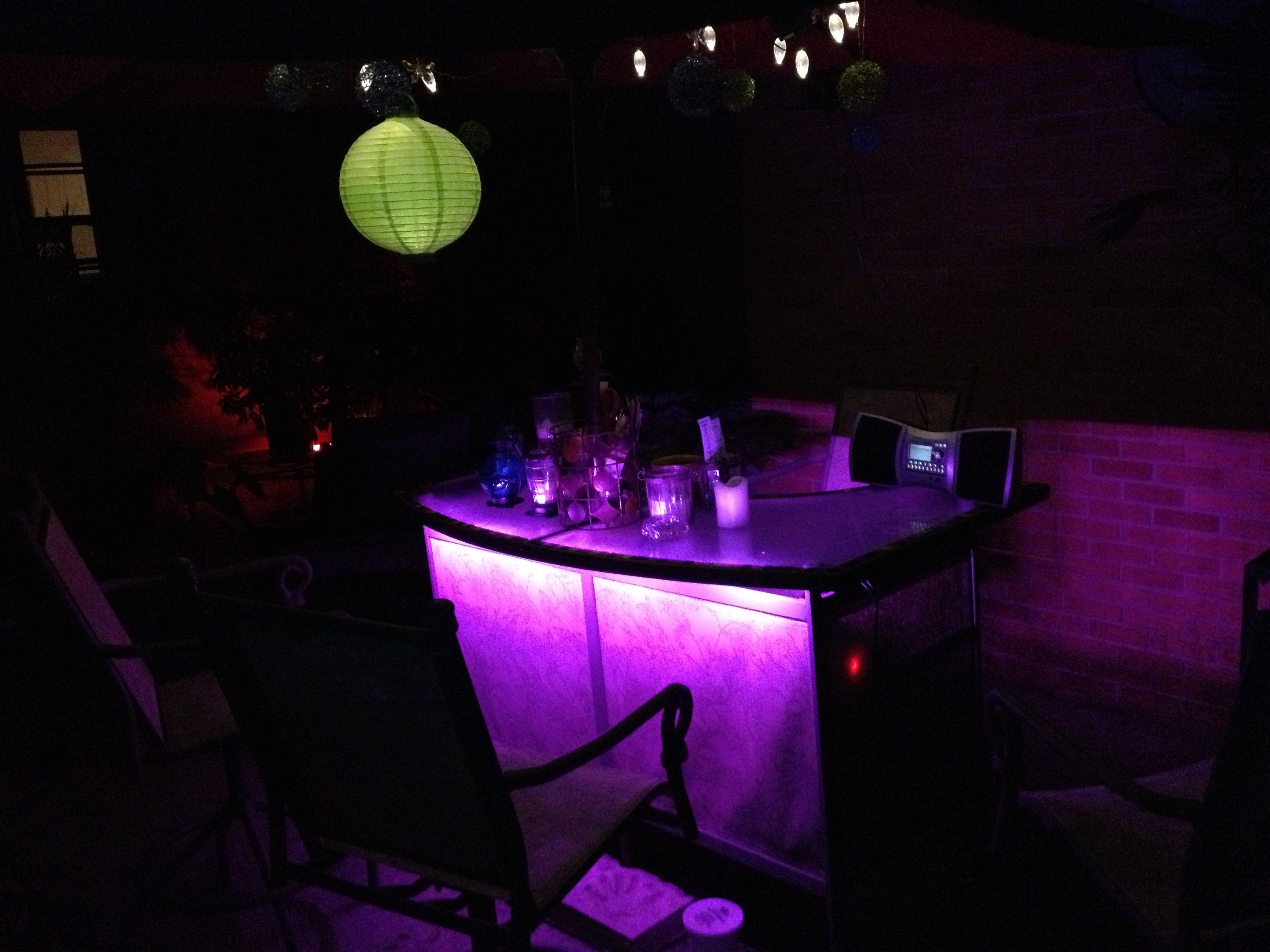 Led Table Lights I Put Cyron Led Lights Under My Patio Bar Table