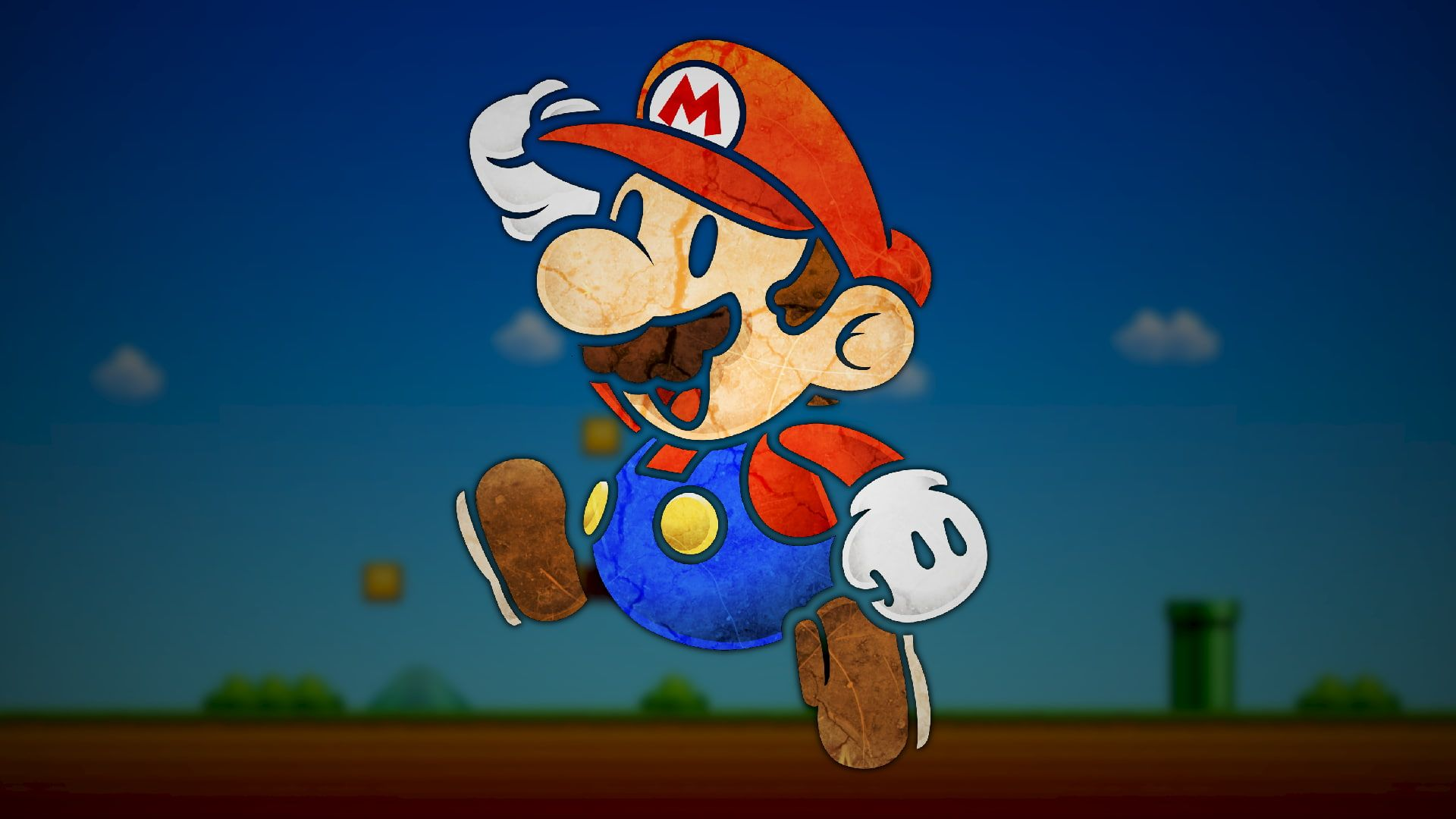 Super Mario Paper Mario Video Games Digital Art Nintendo Artwork 1080p Wallpaper Hdwallpaper Desktop Desktop Wallpaper Hd Wallpaper Android Wallpaper