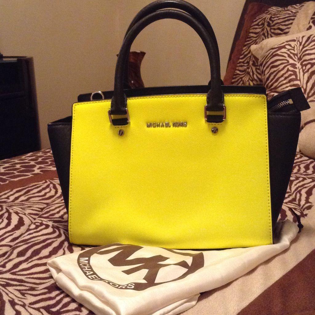 3006398ac135 ... wholesale nwot authentic michael kors selma colorblock bag 6d471 35e7c  ebay selma studded saffiano leather ...