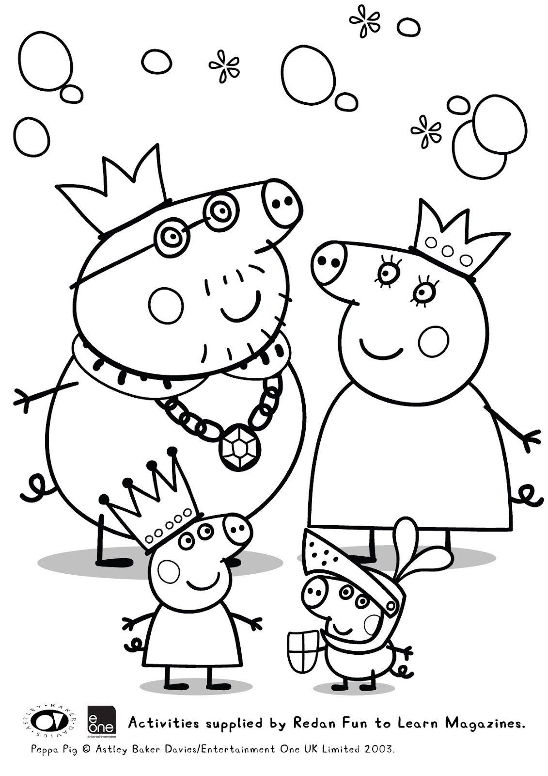 Guarda tutti i disegni da colorare di Peppa Pig www