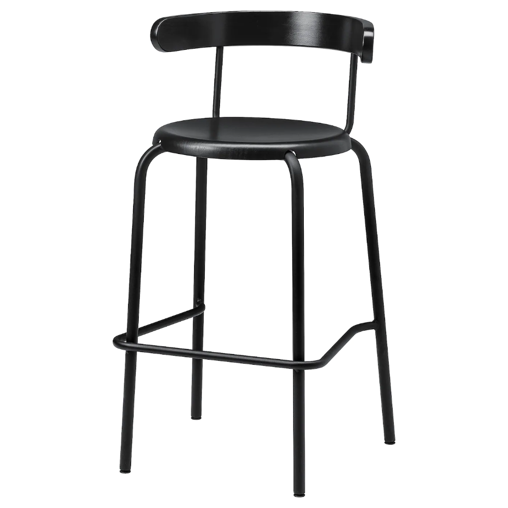 Yngvar Bar Stool Anthracite 29 1 2 In 2020 Bar Stools Ikea