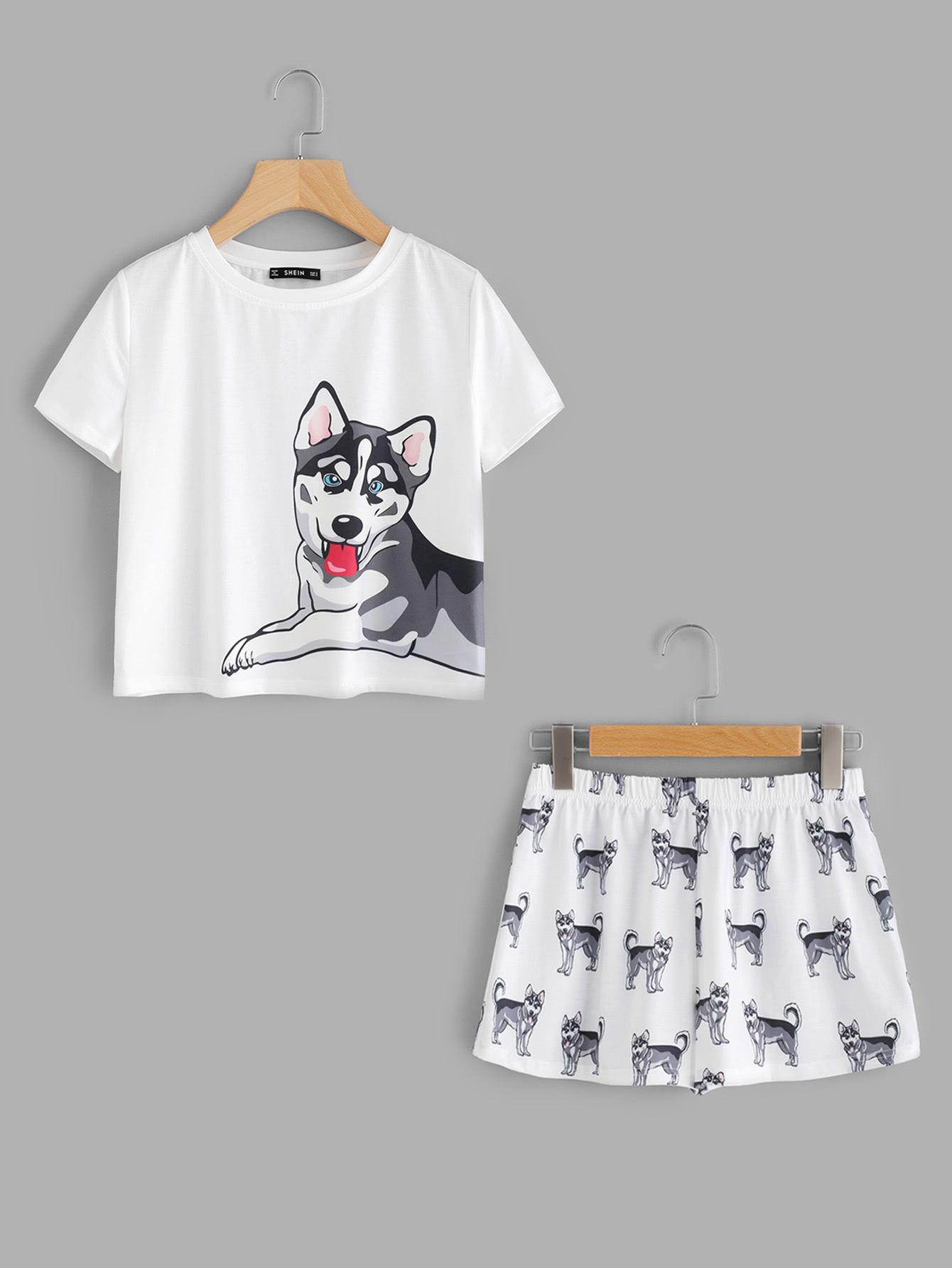 925d0d7a70f6 Shop Dog Print Tee   Shorts Pajama Set online. SheIn offers Dog Print Tee    Shorts Pajama Set   more to fit your fashionable needs.
