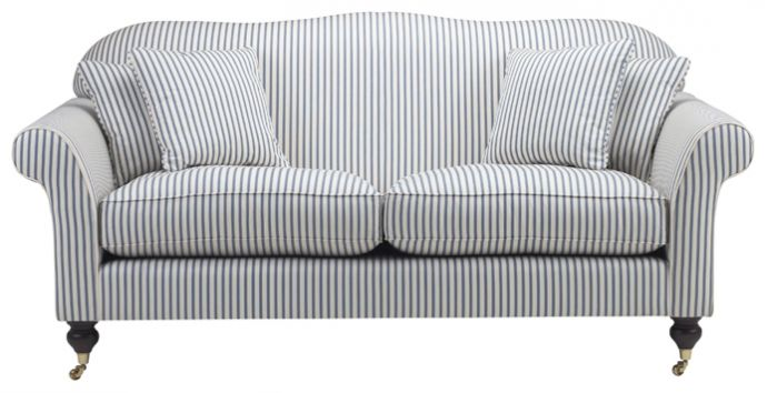 Grey And White Striped Sofa
