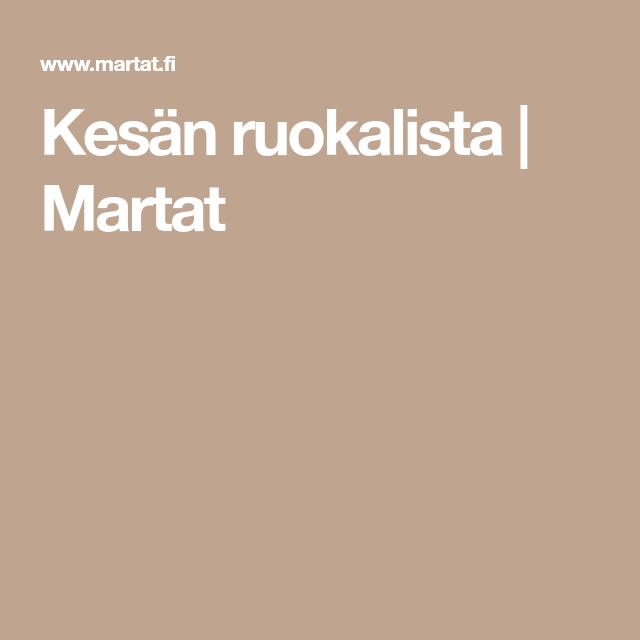 Martat Ruokalista