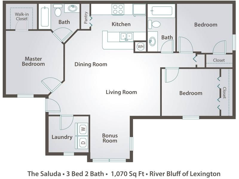 3 Bedroom 2 Bath Open Floor Plans Photos And Video Floor