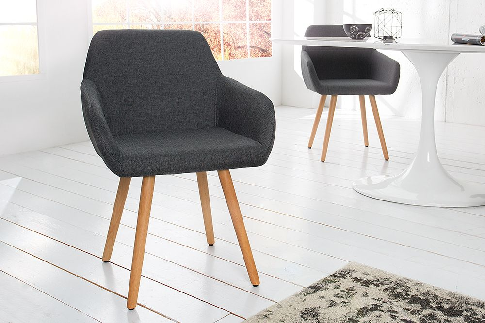 Moderner Stuhl Baltic Massiv Buche Gestell Grau Strukturstoff Stuhl Design Moderne Stuhle Stuhle