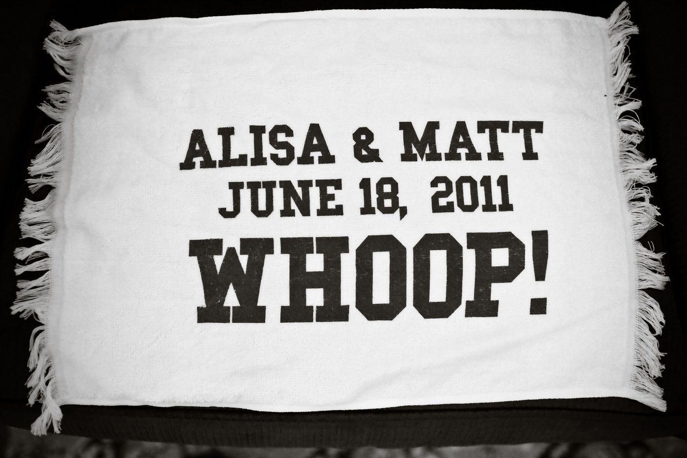 Aggie wedding towel favor! Whoop! Courtesy of Ashleigh Photography ...