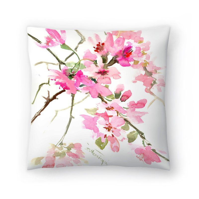 Pink Flower Throw Pillow With Images Flower Throw Pillows