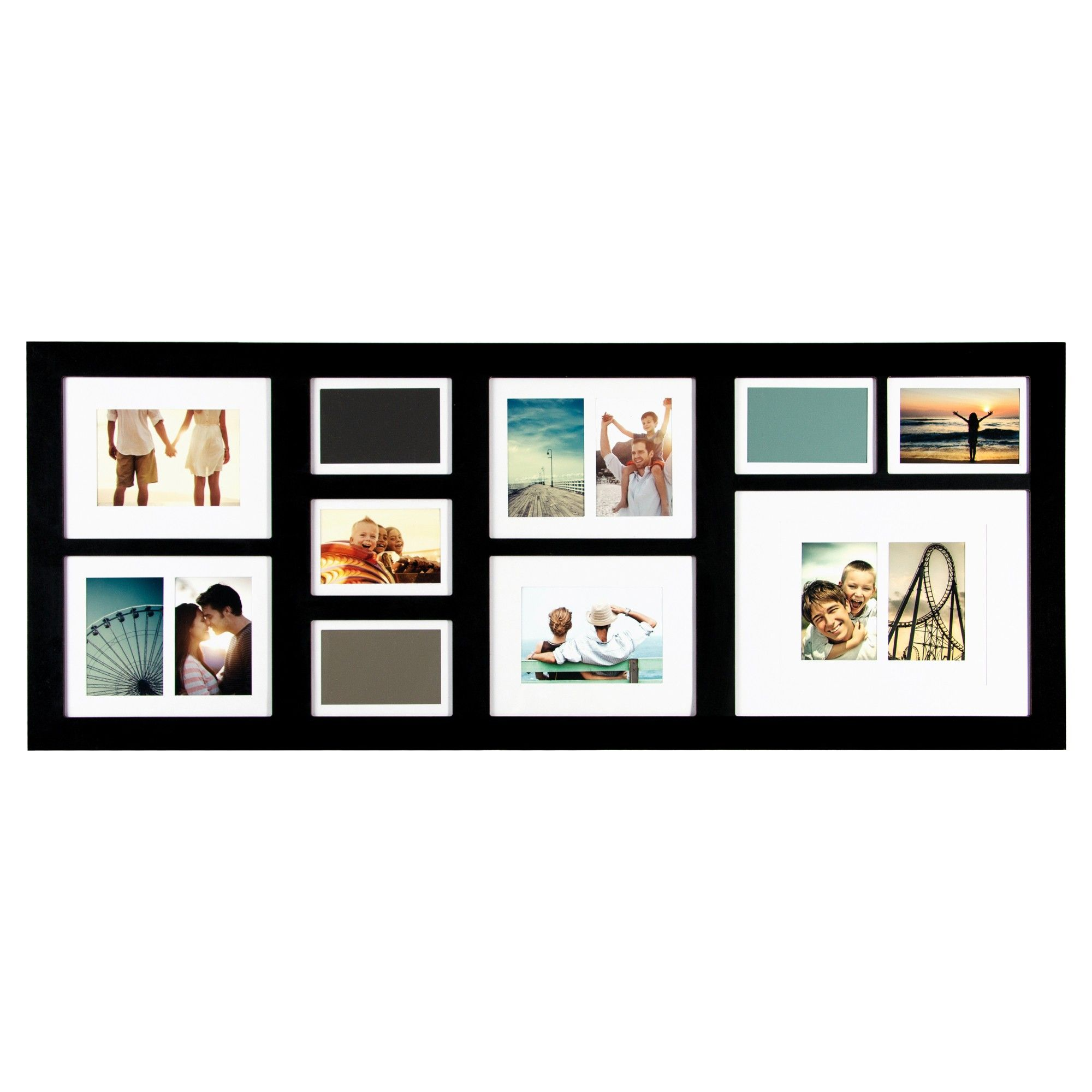 10 Opening Collage With Mats Black Collage Frames Collage Picture Frames Frame Wall Collage