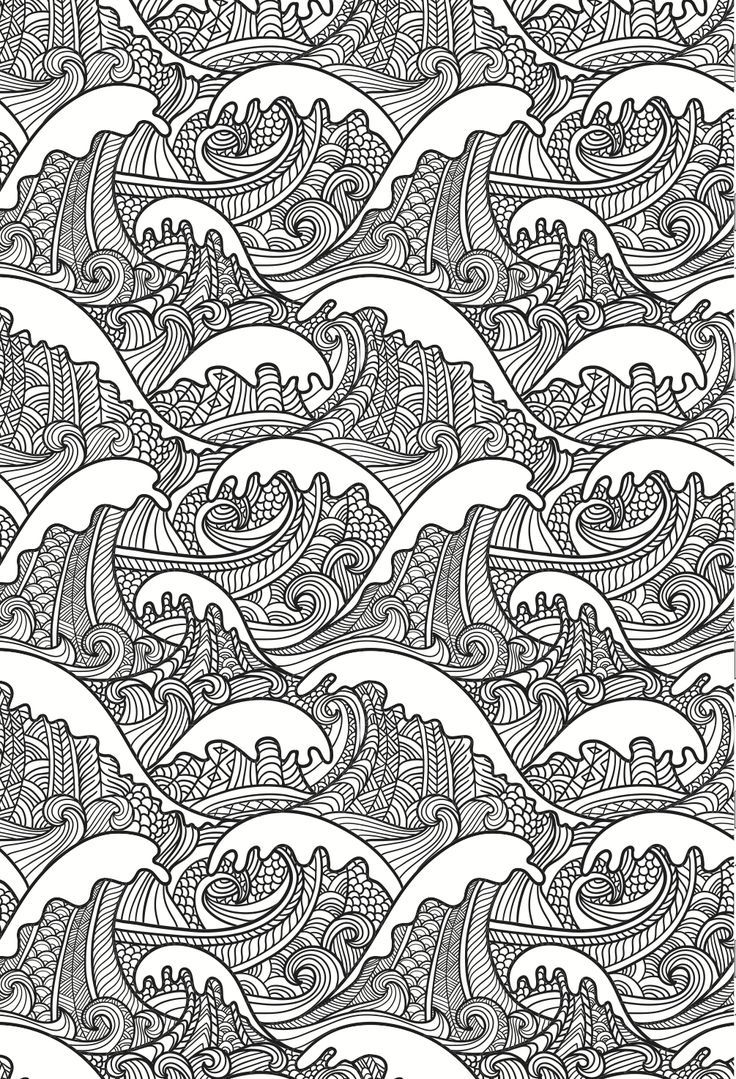 very detailed coloring pages made for adults but great for developing advanced fine motor control - Very Detailed Coloring Pages