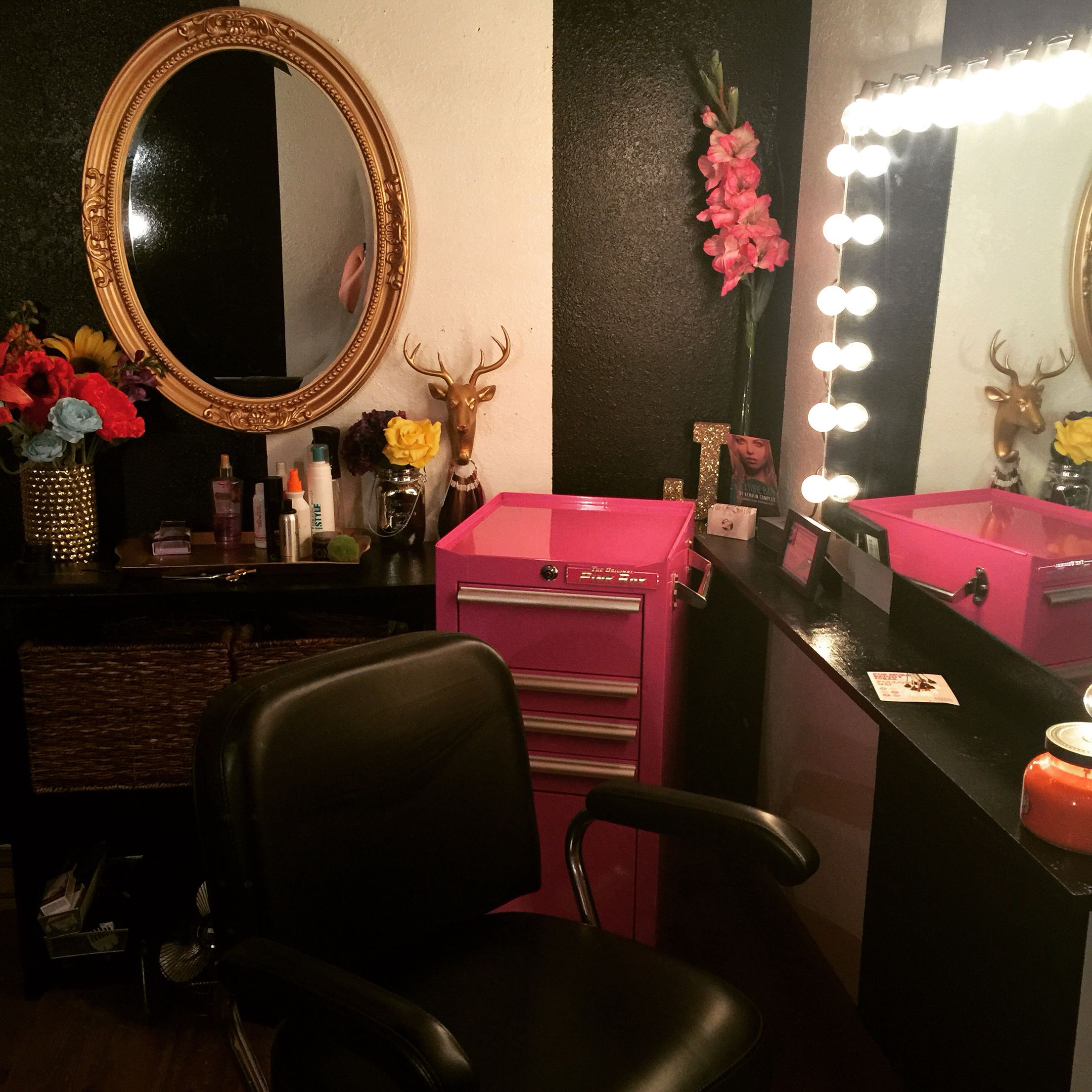 Salon Suite. Pink Tool Box. Vintage Salon. Personal salon Room ...