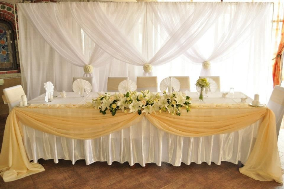 Wedding Head Table Decor and Backdrop