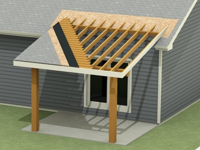 Design Build Process For A Patio Roof Addition In Bozeman