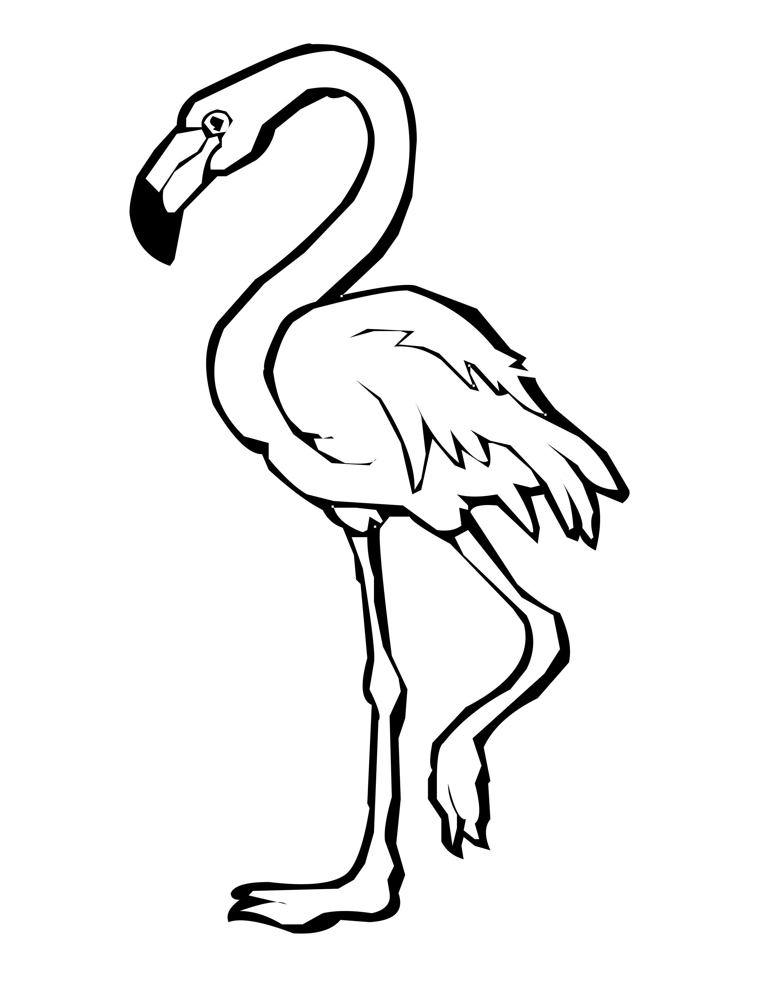 Coloring Page Base Flamingo Coloring Page Animal Coloring Pages