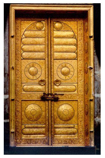 Kaaba Door باب الكعبة Beautiful Doors Islamic Art Masjid Al Haram