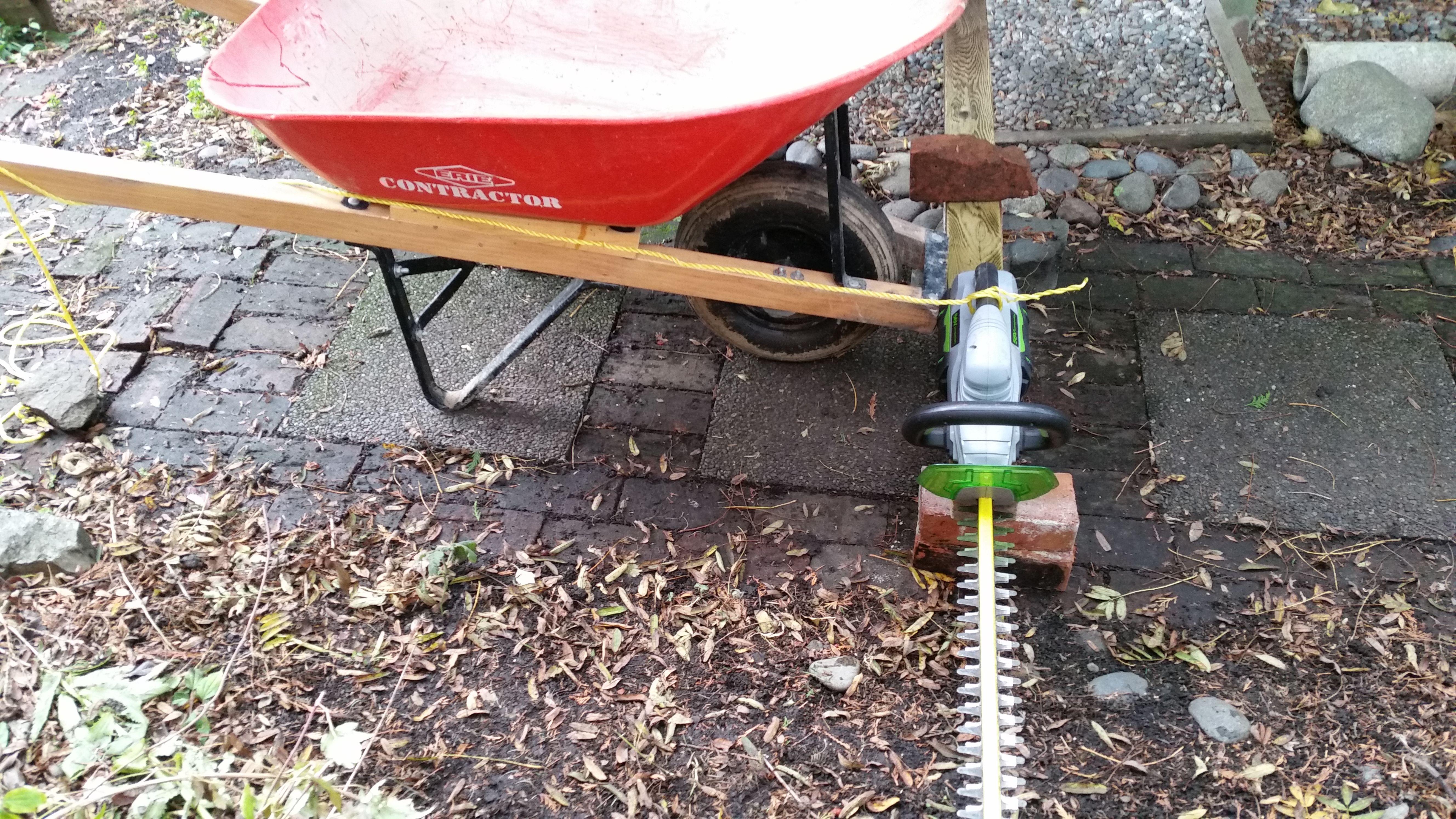 Diy Wheelbarrow Sickle Bar Mower Homemade Gas And Electric Hedge Cutter Useful Life Hacks Sickle