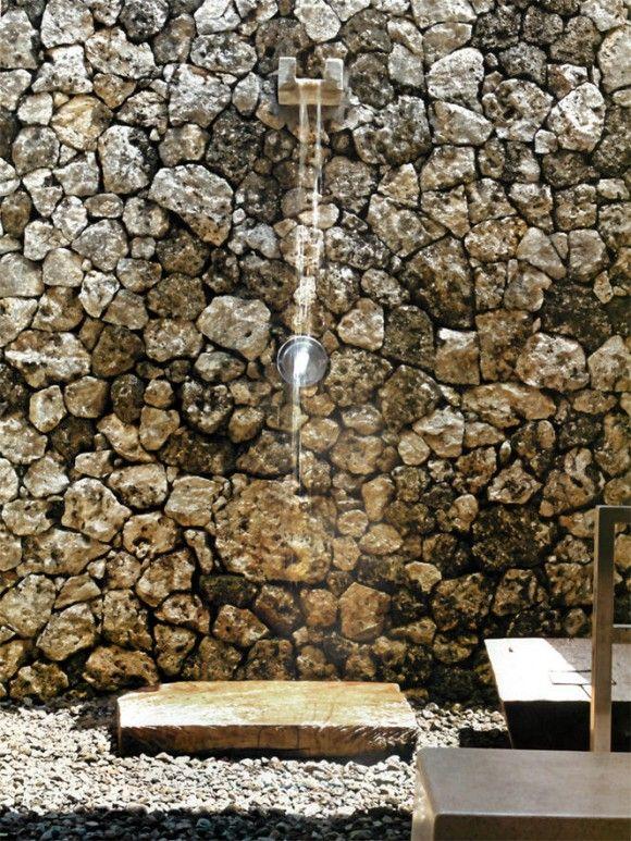 Fuente seca contemporaneo garden shower outdoor for Diseno de fuente de jardin al aire libre