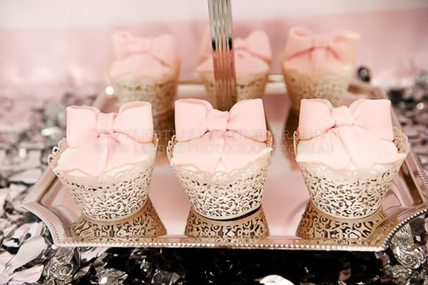 Hostess with the Mostess® - Navy, Silver and Pink Wedding Table.. for christening dessert