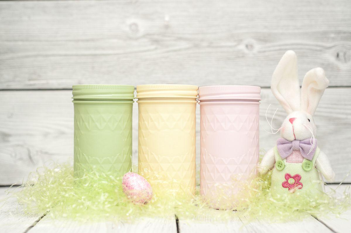 Pastel Painted Mason Jars for Easter Decor | Mason Jar Ideas ...