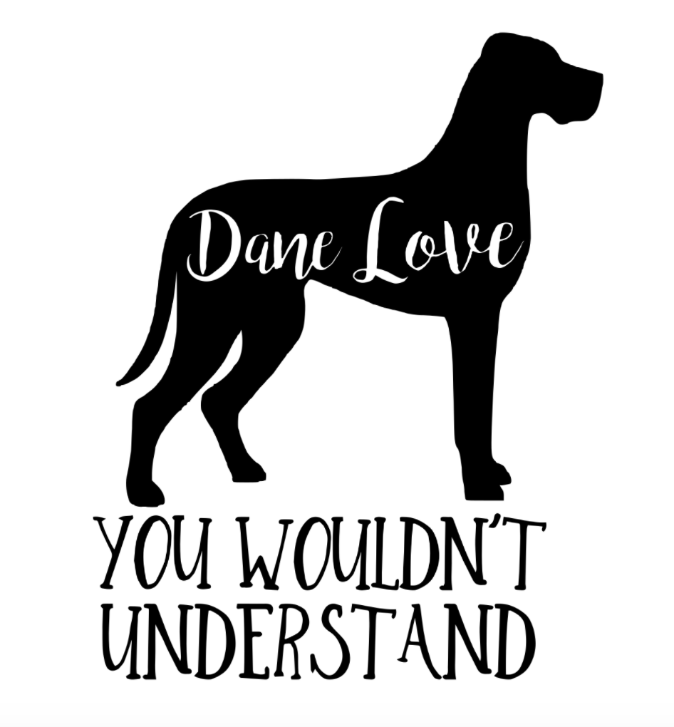 Great Dane Love Your Breed Bookmark