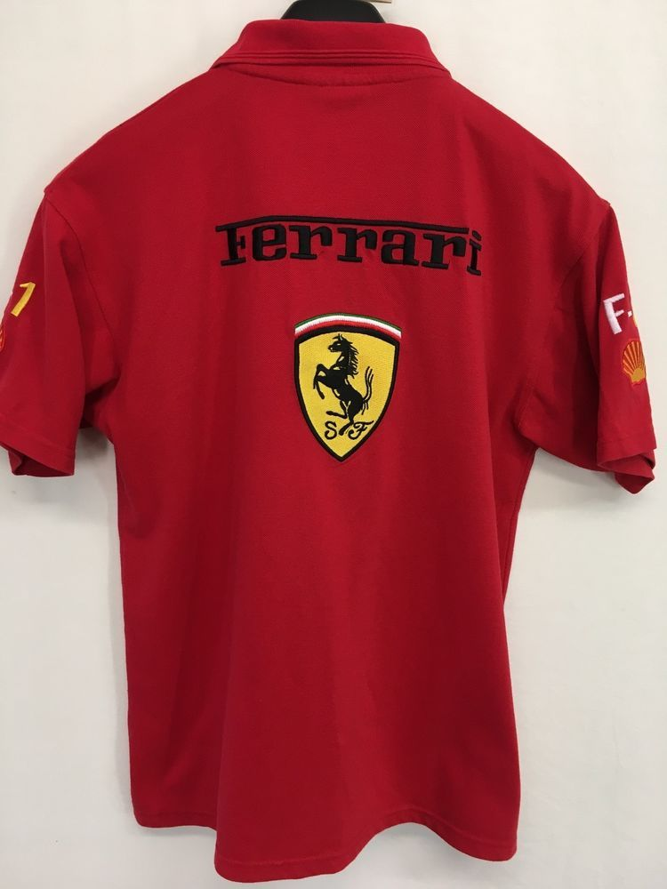 5d9f5d53 MENS LARGE FERRARI POLO SHIRT RED EMBROIDERED CASUAL SHORT-SLEEVE #Ferrari  #PoloRugby