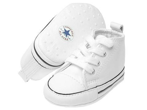 cae111568405 Converse Kids Chuck Taylor® First Star Core Crib (Infant Toddler) White  Leather - Zappos.com Free Shipping BOTH Ways