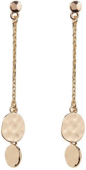 14th & Union Linear Chain Disc Drop Earrings