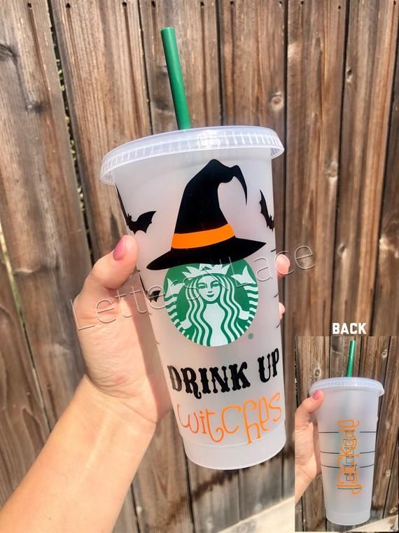 Drink Up Witches Starbucks Cup Witch Starbucks Cup Halloween Coffee Cup Halloween Starbucks Witches Halloween Cups Halloween Coffee Starbucks Cups
