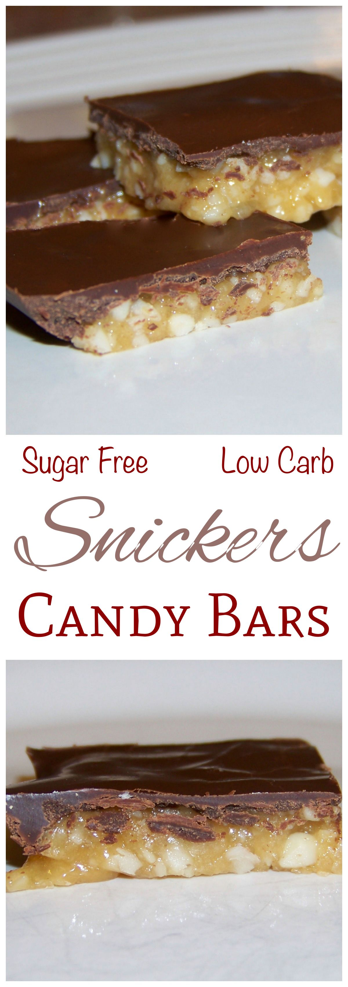 Zuckerfreie Desserts This Sugar Free Low Carb Keto Snickers Bar Recipe Makes A