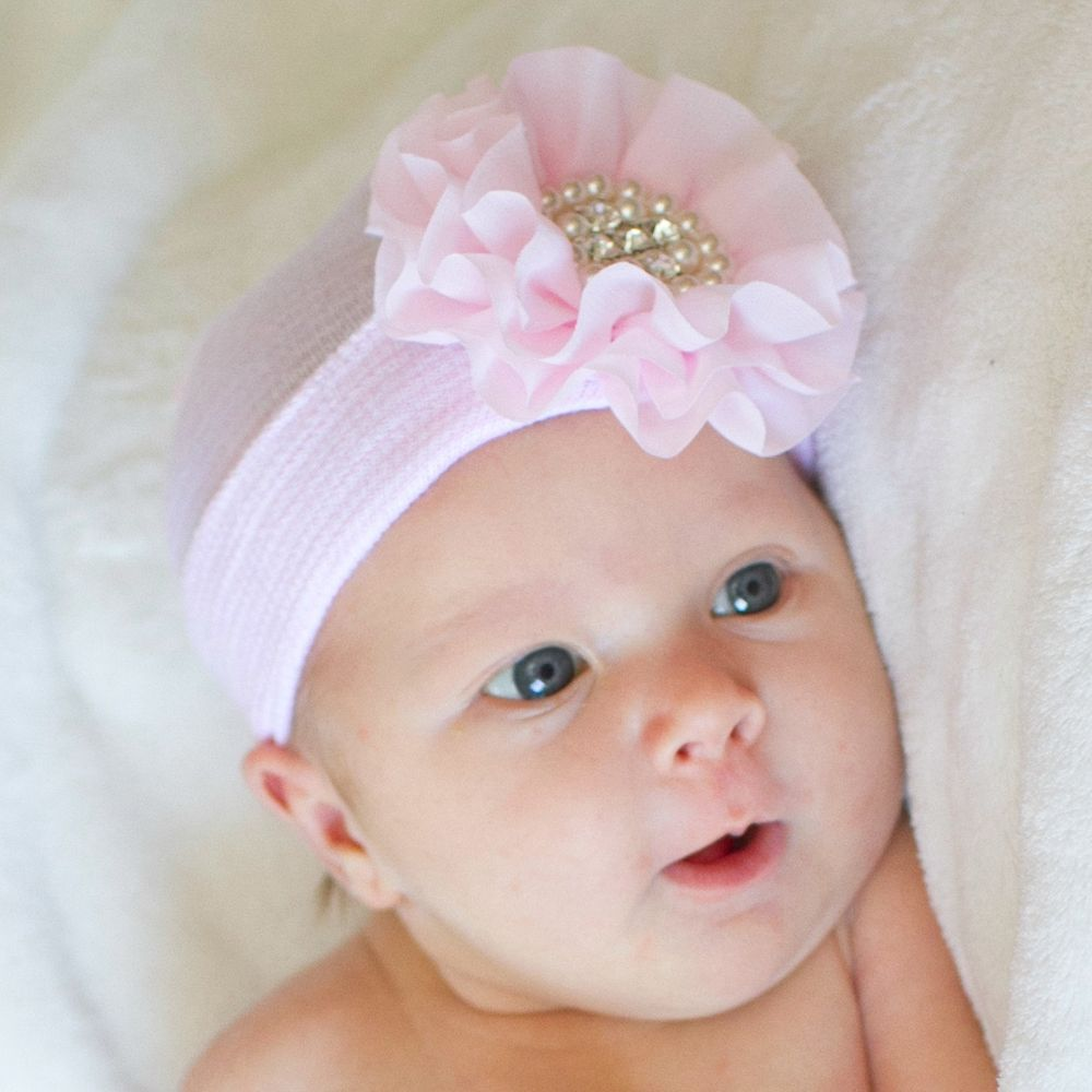 Rosa blu bambino beanie infantile cap ospedale cappello del fiore del bambino portare a casa cappello perfetto regalo neonato cappello del bambino sw121