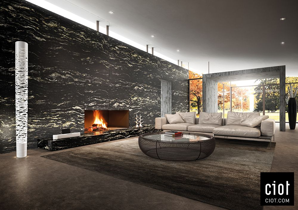 On The Wall Black Cosmic Granite By Antolini Au Mur