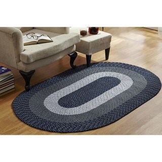 Stripe Indoor Outdoor Oval Braided Rug 5 4 X 8 4 By Better