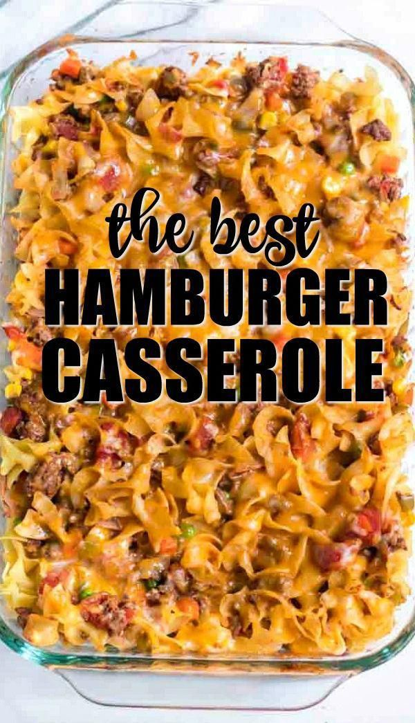 Baked With Noodles Ground Beef Seasonings Cheese And Vegetables This Hamburger Ca Beef Recipes For Dinner Ground Beef Recipes For Dinner Dinner Casseroles