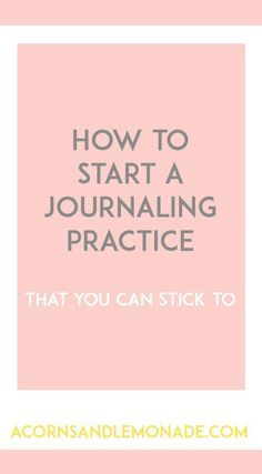 It is so easy and beneficial to start journaling daily! Check out how to start…