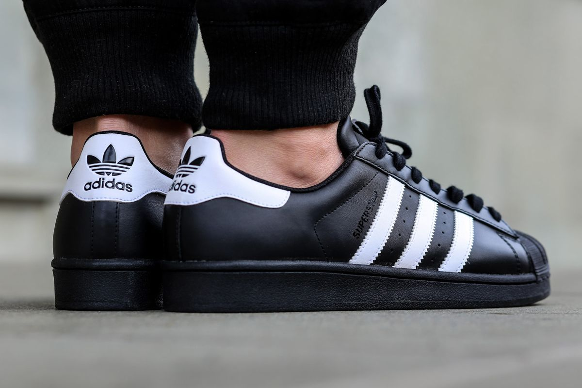 Adidas Superstar Black On White