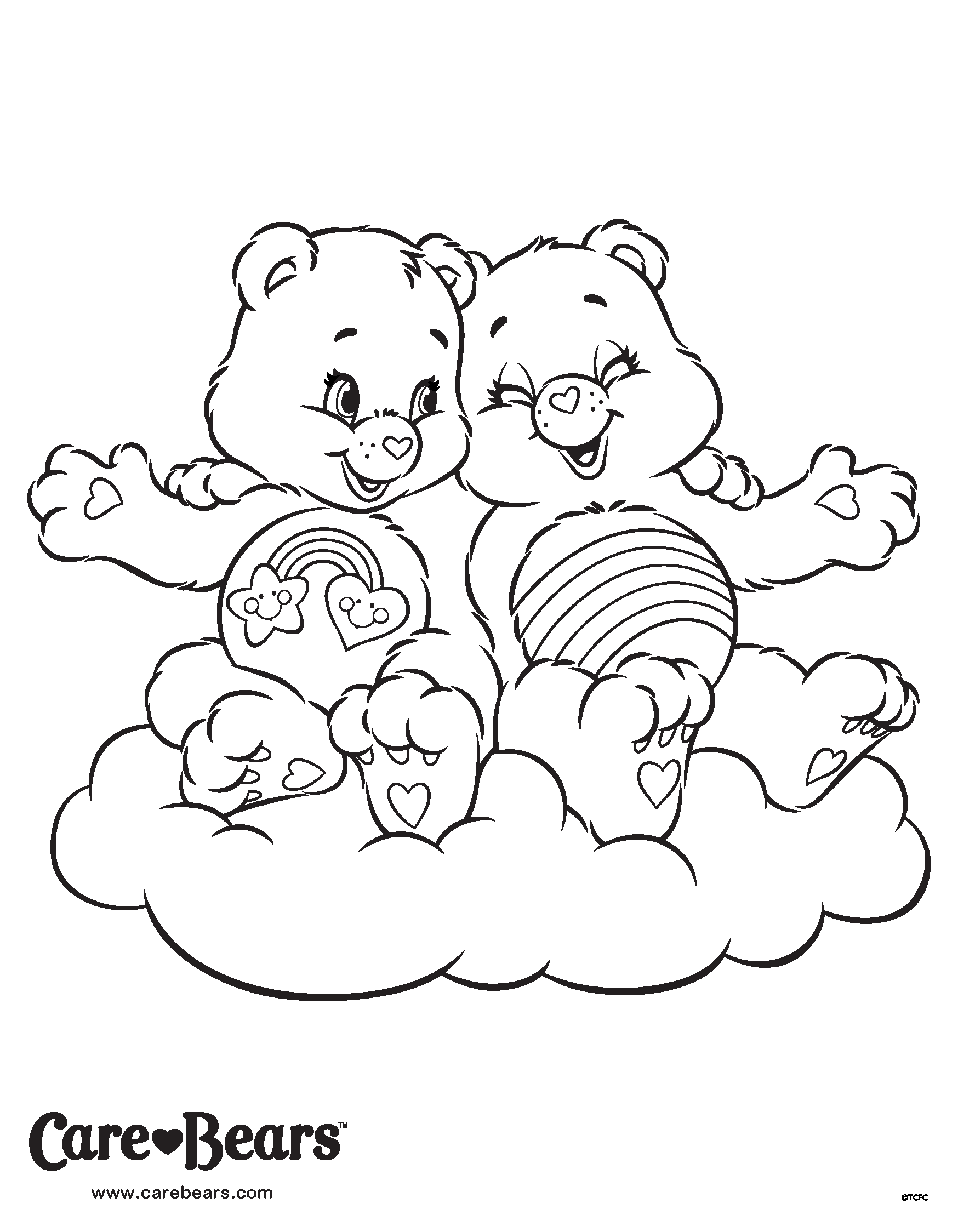 Cheer and Best Friend Bear coloring page | 2 Sort Coloring ...